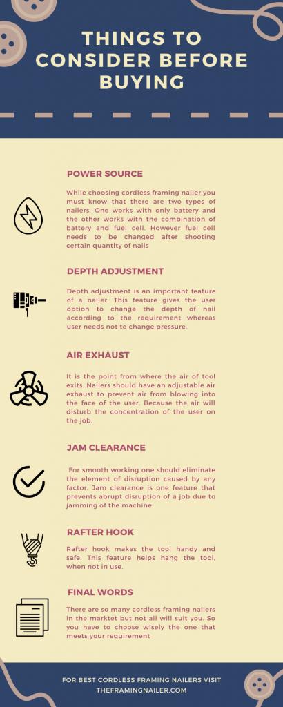 best cordless framing nailer, best cordless framing nailer infographics